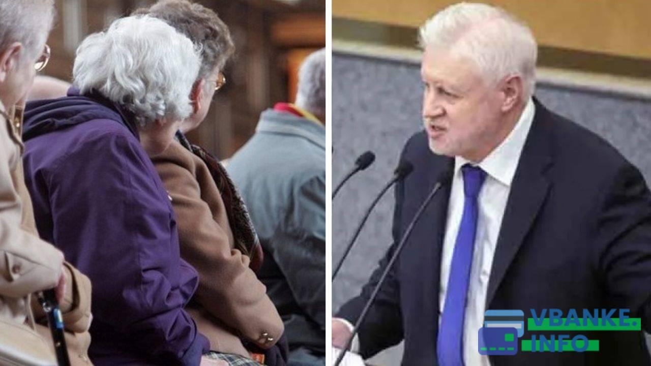 Фракция Сергея Миронова предложила отменить пенсионную реформу и запретить повышать пенсионный возраст